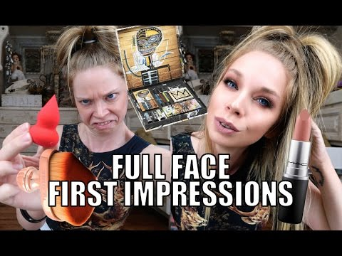 FULL FACE FIRST IMPRESSIONS TESTING NEW MAKEUP