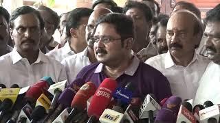 டிடிவி தினகரன் பத்திரிகையாளர் சந்திப்பு