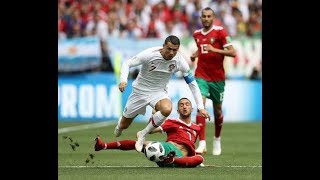 اخبار الكرة : جماهير المغرب تستفز رونالدو بهتاف ميسي
