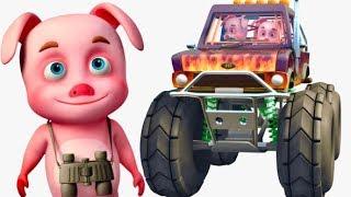 3 Little Pigs In a Vehicle Showroom   Oinkidz Nursery Rhymes   Videogyan 3D Rhymes & Kids Songs