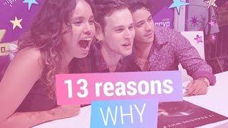 Elenco de 13 Reasons Why prova paçoca e brigadeiro. Será que eles gostaram?