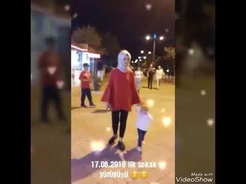 Özüm ilk sokakda yürüme deneyimi 😊 yürüyen bebek 13 aylık özümcük