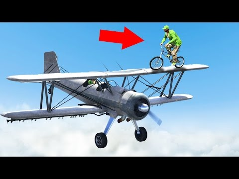 STEAL THE PLANE MID AIR OR DIE GTA 5 Funny Moments