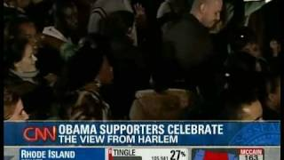 Reaction At Martin Luther King, Jr's Church To Obama Becoming President Plus The Reaction In Harlem