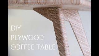 DIY Plywood Coffee Table - Herringbone Pattern #rocklerplywoodchallenge