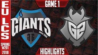 GIA vs G2 Highlights ALL GAMES | EU LCS Spring 2018 S8 W2D1 | Giants vs G2 Esports Highlights