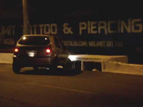 Flagra Acidente Batida de carro em Goiania a caminho de Piracanjuba Goias