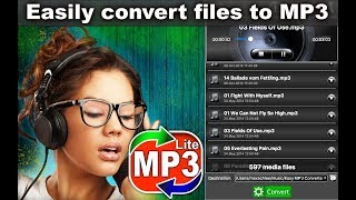 """Convert the audio files in MP3 format with """"Easy MP3 Converter"""" App"""