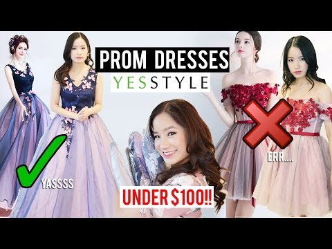 Xxx Mp4 Try On Prom Dresses Under 100 From YESSTYLE Was It Worth It 3gp Sex