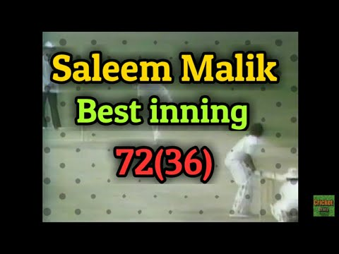 Saleem Malik best ever knock 72 36 balls vs India at Calcutta 1987