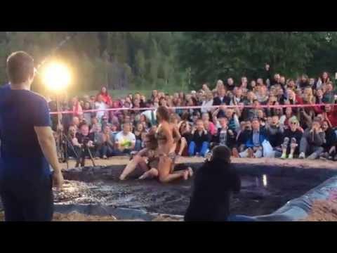 Womens mud wrestling 2014