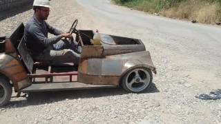 homemad mini car one piston