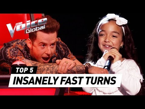 QUICKEST COACH TURNS in The Voice Kids Video Clip