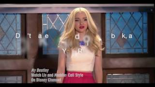 Dove Cameron -My destiny (lyrics)