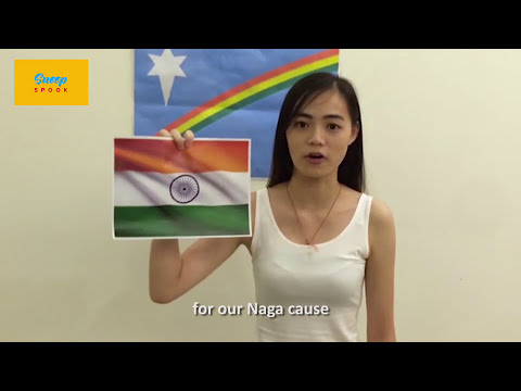 Xxx Mp4 Naga Girl Burns Down Indian Flag Supports Pakistan 3gp Sex