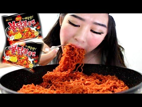 SUPER SPICY KOREAN NOODLE RAMEN CHALLENGE!!
