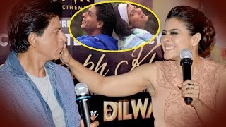 SRK-Kajol CUTE Moment will Remind you Kuch Kuch Hota Hai   Dilwale Promotion