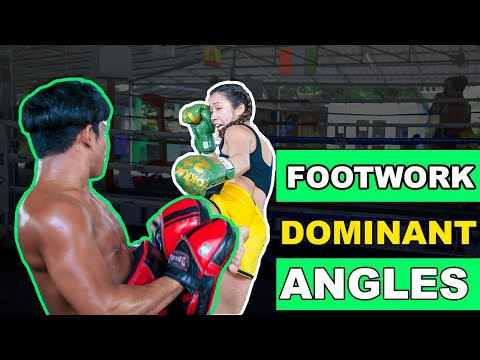 Muay Thai Footwork and Counters - Taking Dominant Angles