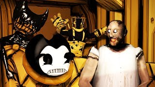 SLENDRINA GRANNY JUMPSCARE IN BENDY AND THE INK MACHINE CHAPTER 4 SFM  batim