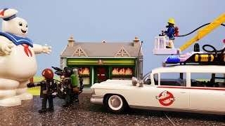 Fireman Sam and Ghostbusters save Pontypandy Episode 32 Firefighter Sam Toys Marshmallow Man Ecto
