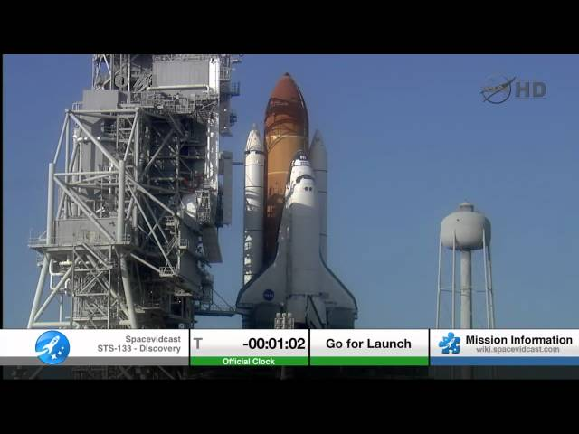 STS-133 The Final Launch of Space Shuttle Discovery including T-5 hold