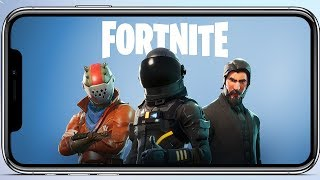 Fortnite Mobile no iPhone X! Live + Link Download