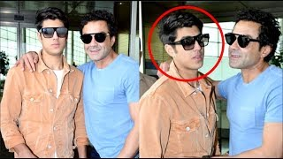 Bobby Deol With HANDSOME Son Aryaman Deol At The Airport