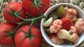 Mixed Vegatable Pickles with Tomato Juice (ترشی سالاد فصل (شور مشهدی