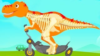 Jurassic Dig - Baby Find Dinosaur Bones With Cute Vehicles - Fun Educational Games For Kids