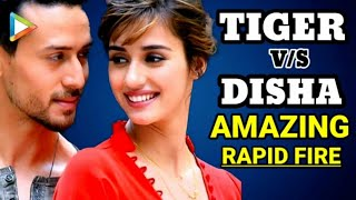 Tiger Shroff | Disha Patani's COMPETITIVE Rapid Fire On Salman Khan | Ranveer Singh |Shraddha Kapoor