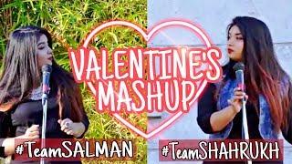 Salman Khan vs Shahrukh Khan Songs | Valentines Mashup Ft. Srushti Barlewar | Bollywood Love Songs