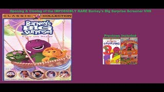 Barney's Big Surprise IMPOSSIBLY RARE Screener VHS Opening & Closing