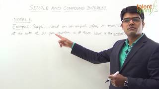 Simple Interest and Compound Interest - Model 1 (Hindi Explanation)