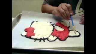 How to make a butter cream cake transfer