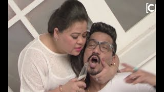 Ace Comedian Bharti SIngh And Boyfriend Harsh Limbachiyaa FUNNY Photoshoot Making Video