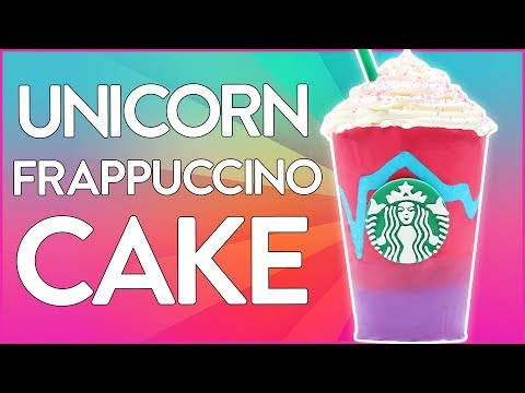 UNICORN FRAPPUCCINO CAKE ft LaurDIY - Starbucks - NERDY NUMMIES
