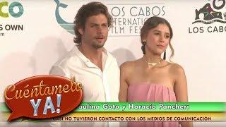 Paulina Goto y Horacio Pancheri evitan hablar ante las cámaras   Cuéntamelo YA!
