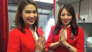 แจ่ม! มาดูนางฟ้าสาวสวยของไทย แอร์เอเชีย เอ็กซ์ Thai Air Asia X  แนะนำวิธีใ้ช้อุปกรณ์บนเครื่องกัน