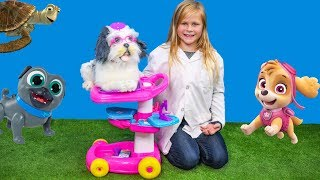 BARBIE PET CARE CART Assistant with Paw Patrol + Puppy Dog Pals + Crush from Finding Dory