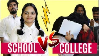 SCHOOL VS. COLLEGE (ft. Small Town Girl)  | YIPPIKAY