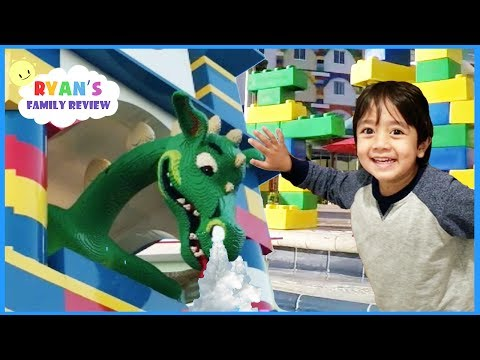 LEGOLAND HOTEL TOUR Giant Lego Swimming Pool and Amusement Park for Kids Compilation Video