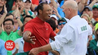 Tiger Woods controlling his emotions was key in winning 2019 Masters - Joe LaCava | Golic and Wingo