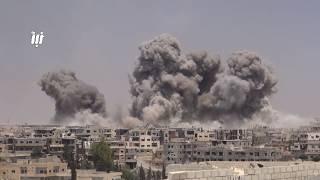 قصف عنيف يستهدف حي طريق السد ومخيم درعا 4-6-2017