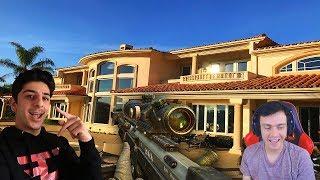 TRICKSHOTTING AT FAZE RUG'S HOUSE!