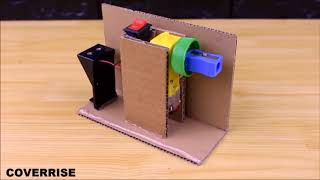How to make PENCIL Sharpener MACHINE from cardboard   DIY at Home