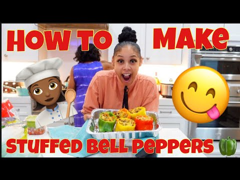 COOKING AND TRYING STUFFED BELL PEPPERS
