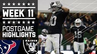 Texans vs. Raiders (Week 11) | Game Highlights | NFL International