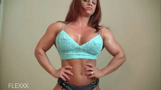 Beautiful Pecs and Flexing | FBB Female Bodybuilder | Muscle Women |
