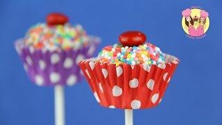 CUPCAKE MARSHMALLOW POPS - Bounce Patrol kids & Charli's Crafty Kitchen baking