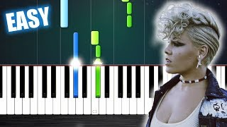 P!nk - What About Us - EASY Piano Tutorial by PlutaX